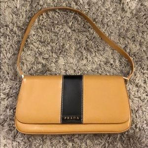Dark Tan Retro Shoulder Bag